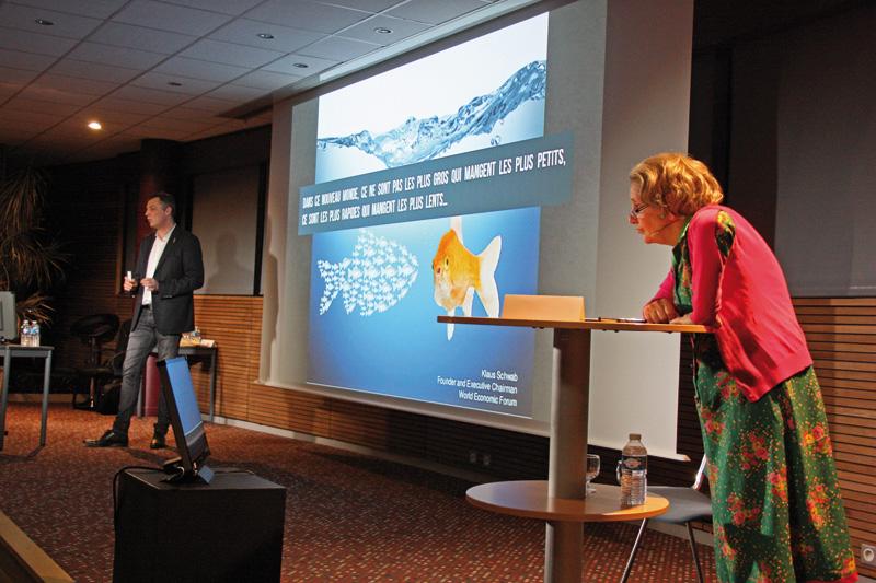 Lola Semonin et Philippe Boulanger à la conférence CPME 25 sur l'Intelligence Artificielle