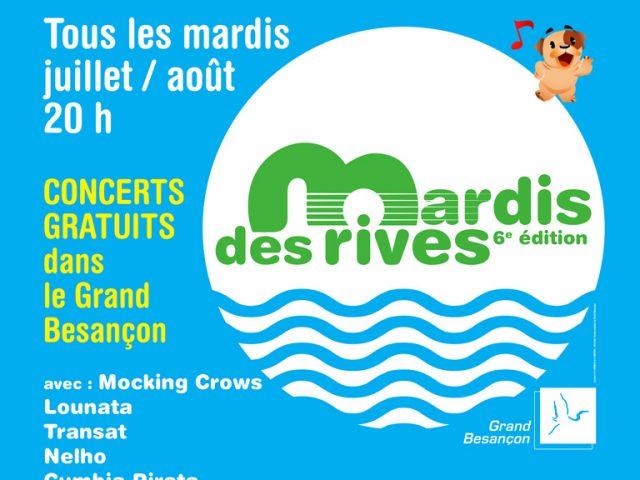 Les Mardis des rives : des concerts gratuits tout l'été au bord du Doubs