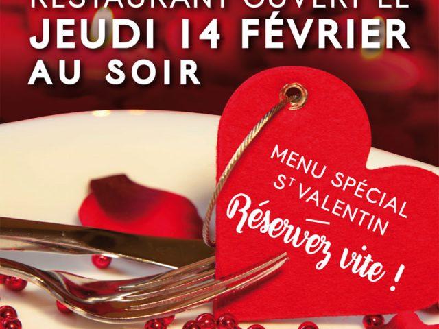 Réservez votre soirée de la St Valentin à la Cuisine Bertin !