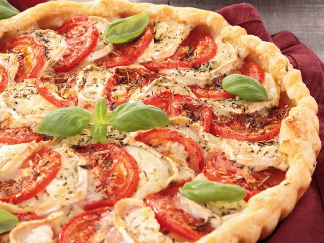 Recette : Tarte aux tomates et au Saint-Nectaire